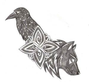 http://navina.deviantart.com/art/Wolf-and-Raven-Tattoo-103016640